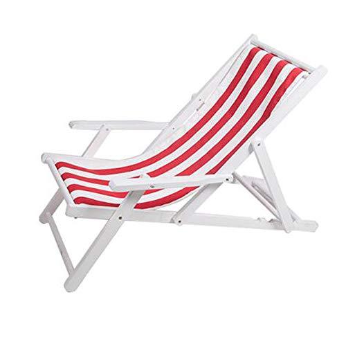 ZRKZ Chaise Longue Pliante Chaise De Plage Chaise Pliante Chaise en Bois Massif Chaise en Toile Oxford Inclinable en Plein Air Portable Pause Déjeuner,J-170cm*63.5cm