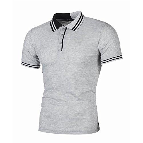 SOLELING Polo da Uomo Manica Corta Ricami Fulvi Golf Poloshirt Camicia Tennis T-Shirt Estate