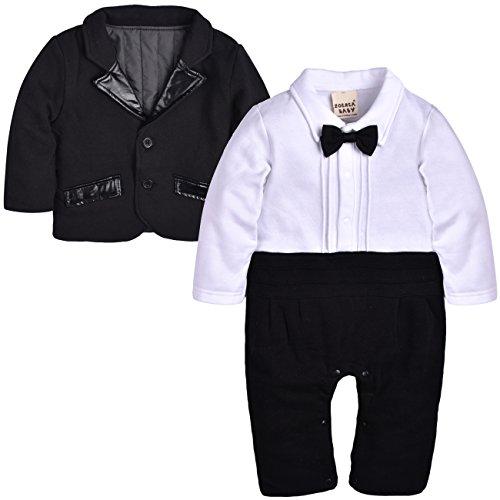 ZOEREA Vestiti battesimo bambino Abiti cerimonia bambino Manica lunga pagliaccetto inverno giacca bimbo tutine neonato trapuntata spessi