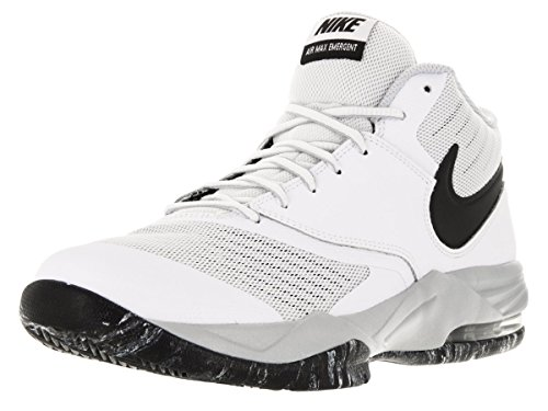 Nike Herren Air Max Emergent Basketballschuhe, Weiß/Schwarz/Silber (Weiß/Blck Slvr-PR-Mtllc Pltnm), 42 EU (Silber Herren-basketball -)