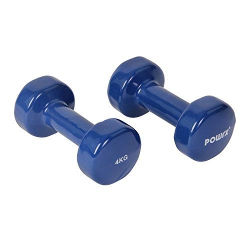Vinyl Hantel Paar Ideal für Gymnastik Aerobic Pilates 0,5 kg – 10 kg | Kurzhantel Set in versch. Farben (2 x 4 kg) - 3