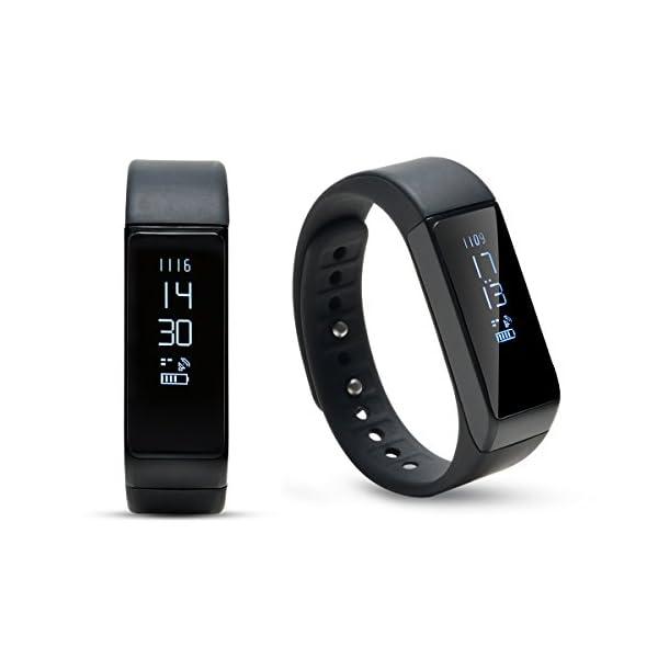 AGPTEK V07 Fitness Tracker Presión Arterial Ritmo Cardíaco Actividad Monitor Bluetooth 4.0 Pantalla OLED Pulsera… 3