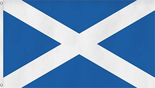 normani Flagge - Fahne - Hissfahne mit Zwei Metallösen zur Befestigung und zum Hissen - Größe 90 x 150 cm wetterfest Farbe Schottland