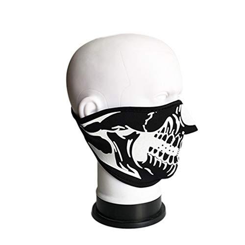 Hemore Außenreit warmer kalter Wind Schädel Masken Absatz 1 bedeutet H Staubdichte, kalte, warme Mundmaske
