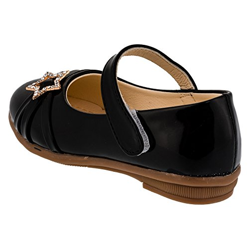 Young Guang , Ballerines pour fille #148sw Schwarz