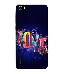 PrintVisa Designer Back Case Cover for Huawei Honor 6 (Love In Colourful Design)