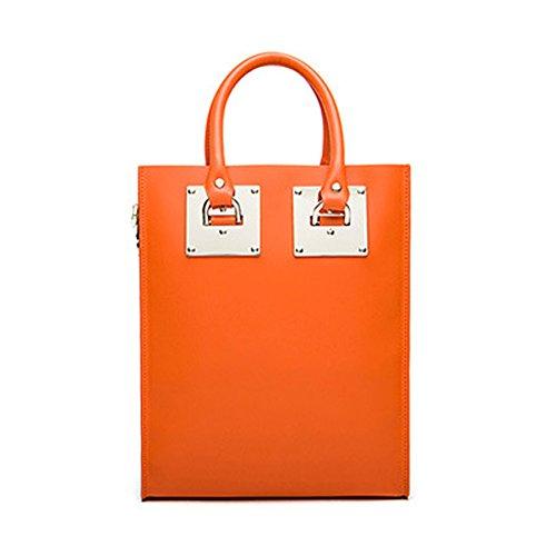 Plover Sac pour femme à porter à l'épaule Cuir de vache Fourre-tout Sac à main Sacs à bandoulière Sacs Messenger Orange