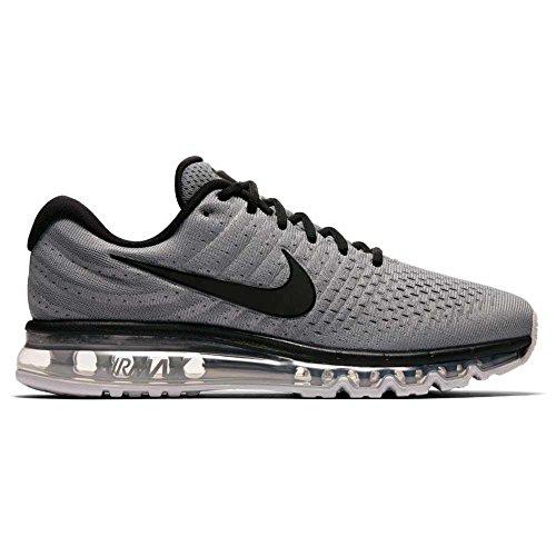 Nike air max 2017, scarpe da trail running uomo, grigio (cool grey/black/pure platinum 011), 45 eu