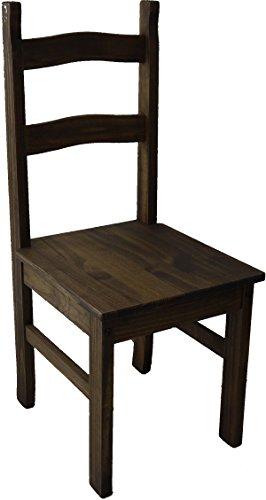 Brasilmöbel Holzstuhl Sao Paulo Eiche antik - Esszimmerstuhl Klassik Pinie Massivholz Echtholz - Variante & Farbe wählbar - Stuhl Holz Wohnzimmerstuhl Lehnenstuhl Lehne Küchenstuhl Landhaus