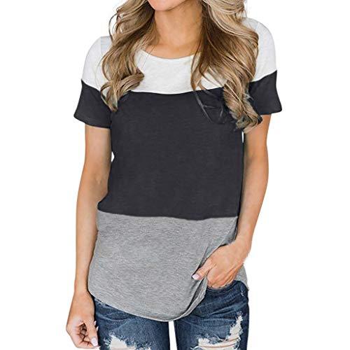 Tosonse T-Shirt Frauen Kurzarm Shirts Tops Tunika 2019 Freizeit Frühling Blusen Tee Druck O-Ausschnitt