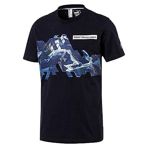 Puma Bmw Motorsport Graphic Bleu T-shirts Manches Courtes Homme Multisports