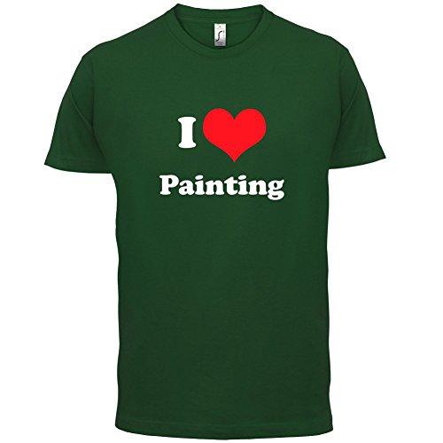 I Love Painting - Herren T-Shirt - 13 Farben Flaschengrün