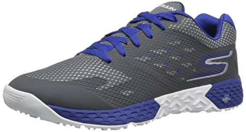 Skechers Performance Herren Go Train-Endurance Outdoor Fitnessschuhe, Grau (Charcoal/Blue), 47 EU
