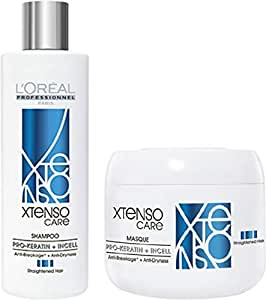 L'Oreal Professional X-Tenso Care Straight Shampoo 250ml & Mask 196Gm Combo Pack