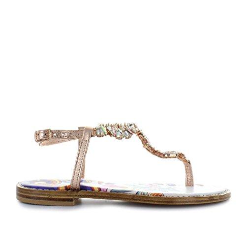 Giallo scarpe da donna sandalo oro rosa swarovski positano primavera estate 2018