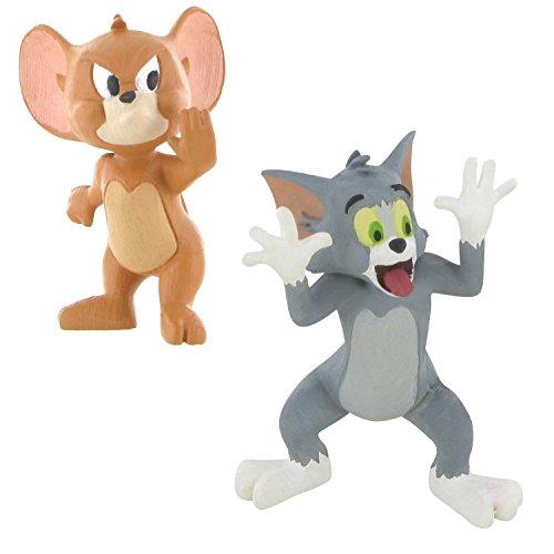 LOTE 2 FIGURAS Comansi Tom and Jerry - Tom Burla - Jerry Stop