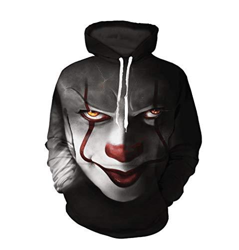 xiaozhao Sweatshirts Clown Junge Digitaldruck Pullover Hoodie Baseball-Anzug Clown XL Clown Kinder Sweatshirt