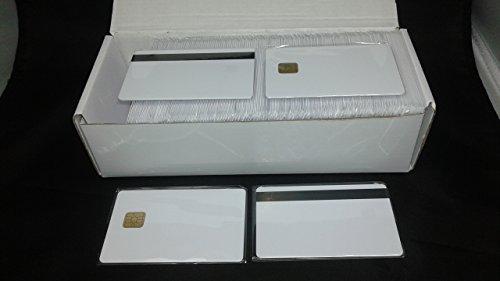 (KingGo 100/lot 2in1fm4442Chip mit, HICO Magnetstreifen PVC Blanko Karte Bedruckbar)