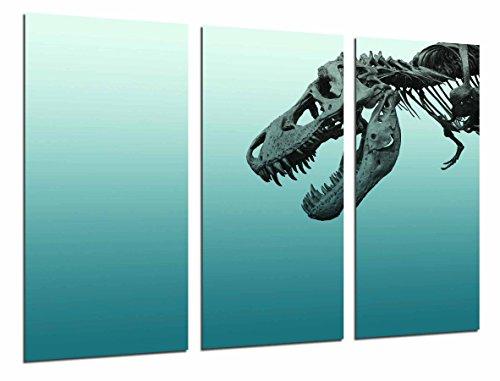 Cuadro Moderno Fotografico Decoracion Original, Dinosaurio, Esqueleto, Rex, 97 x 63 cm, ref. 26854