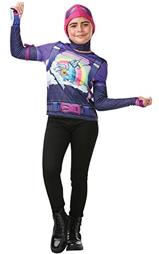 Rubie's Official Fortnite Brite Bomber Costume Kit, Childs Tween Size Small, Height 140 cm, Gaming Skin