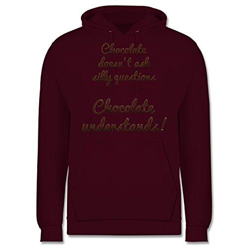 Küche - Chocolate understands! - Männer Premium Kapuzenpullover / Hoodie Burgundrot