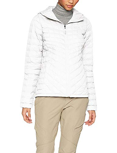 The North Face W Thermoball Hoodie Chaqueta, Mujer, White (White/Vintage White), M