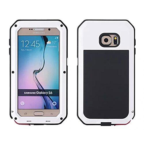 Wendapai Samsung Galaxy S6 G9200 wasserdicht Hülle, IP-68 wasserdicht stoßfest Dust Proof Snow Proof Full Body Schutz Hülle Hülle zum Samsung Galaxy S6 G9200 Screen - White