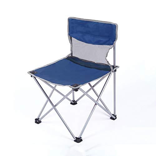 FH Chaise Pliante Extérieure, Chaise Mazar Portative/Chaise De Plage/Tabouret Pliant Pour Étudiant En Art/Chaise De Pêche 50 × 50 × 78 Cm, Vert Bleu En Option (Couleur : Bleu)