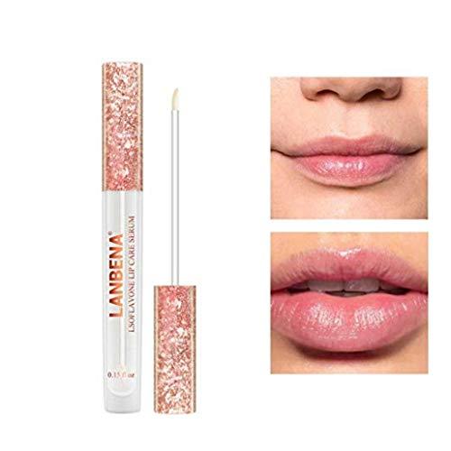 Nulala Lippen Essenz Lippenpflege Essenz Lipgloss Lip Plumper Lippenserum Lippenpflege Leistungsstarke Lipgloss Lip Gloss verbessert die Lippen Elastizität -