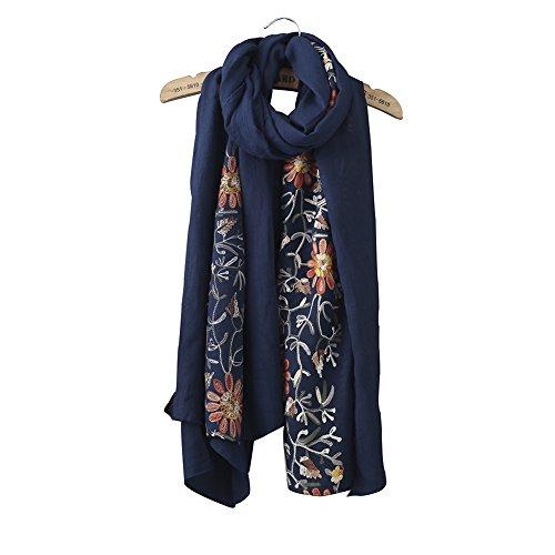 riscawin-lady-colorful-design-daisy-fleur-brode-echarpe-chale-bleu-medium