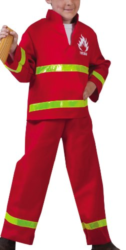 Funny Fashion 403082 - Feuerwehrmann, 2-teilig, Größe - Funny Kostüm Feuerwehrmann