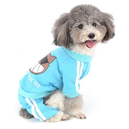 Zunea - Mono para Perro pequeño, algodón Acolchado, chándal de Invierno cálido...