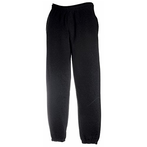 Fruit of the Loom Classic 80/20 elasticated sweatpants Black XL (Loom Sweatpant)