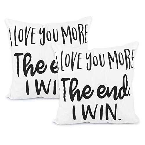Youthunion fodera per cuscino, 2 pezzi fodera per cuscino per camera da letto di san valentino regalo 18 x 18 pollici