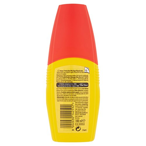 Autan Protection Plus   Repelente de Mosquitos  Moscas y Garrapatas  efecto barrera Multi Insectos  formato Vaporizador 100 ml
