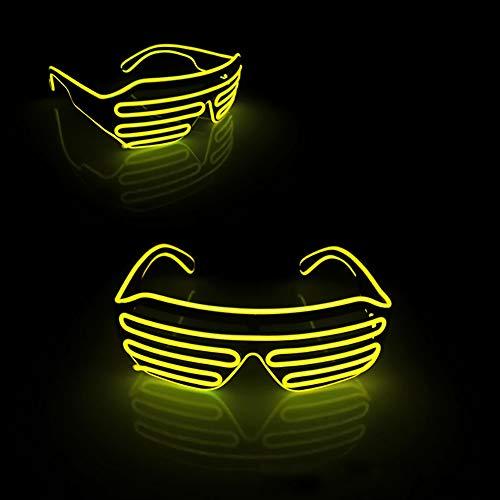 Kalaokei Party Concert EL Wire Flashing Licht up Shutter Brillen-Shades Brille Favor Favor