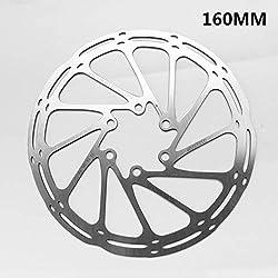CHENTAOCS Bicicleta del Freno de Disco del Rotor 160 180 203mm Centro BTT Disco Línea Discos rotores de Alta Cooling Pad Hollow Fácil de Usar (Color : Xkm 160mm)