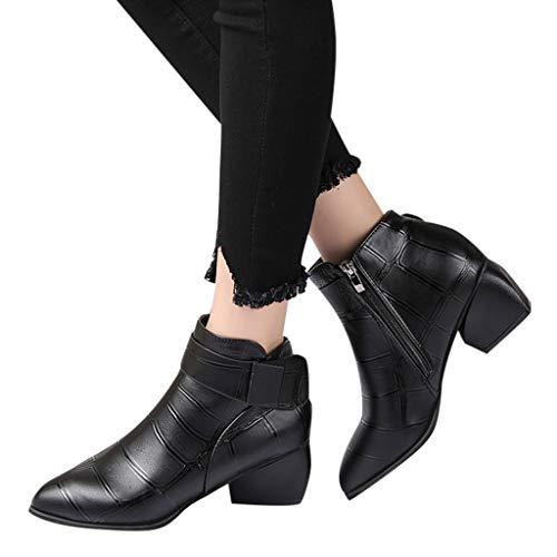 TianWlio Frauen Herbst Winter Stiefel Schuhe Stiefeletten Boots Stiefel Winter Kniehohe Stiefel Hohe...