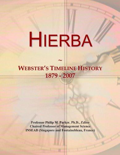 hierba-websters-timeline-history-1879-2007