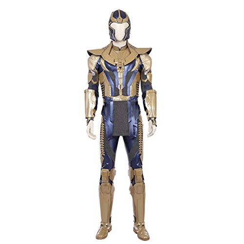 nihiug Rächer Bösewicht BOSS Thanos mit dem gleichen Absatz, Rüstung, Rüstung, voller Satz von Cosplay, Halloween,Metallic-S (Bombe Anzug Kostüm)