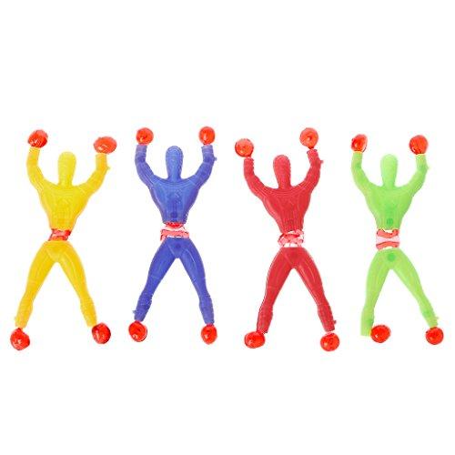 Junlinto, klebrige elastische Spider Man Spaß Dehnbare Kinder Spielzeug Wand Klettern Super Hero Abbildung