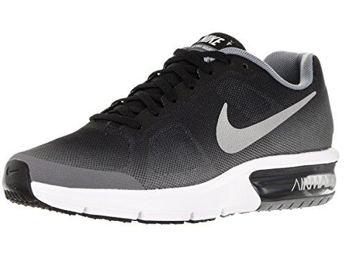 Nike Air Max Sequent (Gs), Scarpe da Corsa Bambino Nero (Black (nero / argento metallizzato-grigio-bianco lupo))