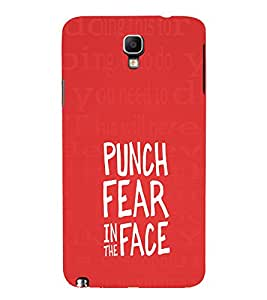 EPICCASE Punch Fear Mobile Back Case Cover For Samsung Galaxy Note 3 Neo (Designer Case)