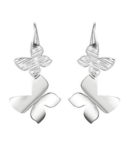 Stroili - Orecchini farfalle in ottone rodiato e glitter per Donna - Moonlight