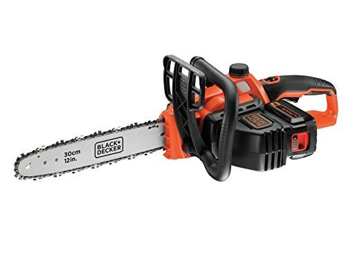 Black+Decker Li Ion, Motosega A Batteria 36V GKC3630L20 Con Batteria E Caricabatterie - Ideale Per La Lavorazione Del Legno E Il Giardinaggio - Lunghezza Spada 30 Cm