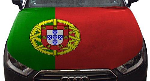 Sonia Originelli WM Motorhauben Überzieher Fußball Fan Auto Fahne Länder Flagge Farbe Portugal