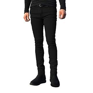 ClassyDude Mens Skinny Slim Fit Stretchable Jeans Classy Dude Denim Cotton Straight Leg All Waist (Waist 42 x 30L, Black)