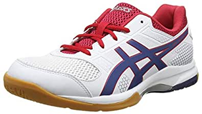 Asics Gel-rocket 8, Chaussures de Volleyball homme - Blanc (White/Deep Ocean 100), 39 EU