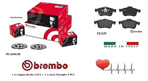 09.A444.40-P23155 Dischi + Pastiglie Freno Anteriori Brembo