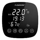 WiFi Funk Thermostat Raumthermostat Digital Wandthermostat programmierbar für Fussbodenheizung elektrische Heizung mit Feuchtigkeitssensor LED Touchscreen Fernbedienung durch Smartphone App